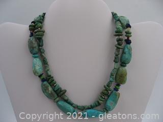 Barse Turquoise Necklace in Sterling Silver