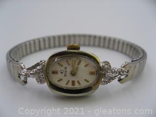 Beautiful Vintage Elgin Diamond Watch