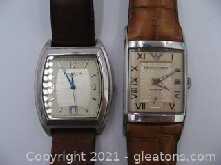 Emporio Armani and Kenneth Cole Men's Watches