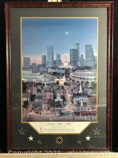 Michel Delacroix Atlanta 1896-1996 Framed Offset Poster