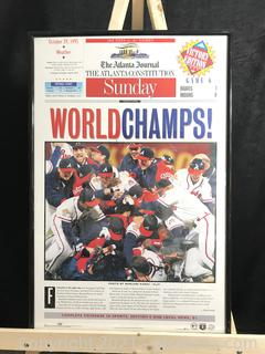 The Atlanta Journal Champs Braved 1995 Series Champions