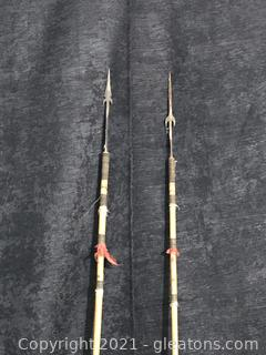 Two Decorative Native American Arrows