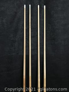 "Four Havoc 59"" Pool Cues"