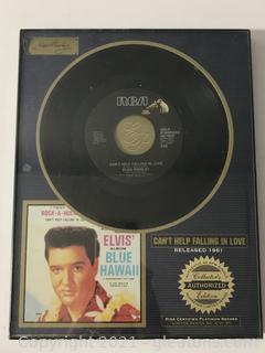 Elvis Presley Limited Framed 45RPM Record