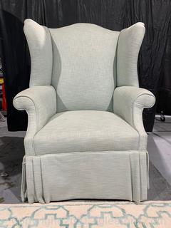 Attractive Skirted Wingback Chair (see description)