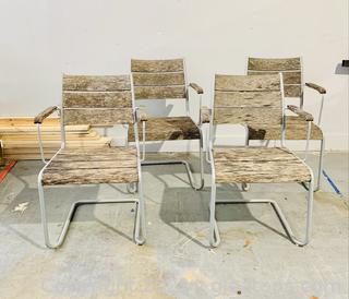 4 Rustic Patio Chairs