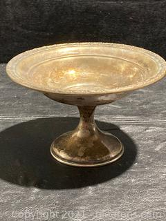 Beautifully Detailed N.S.Co. Sterling, Weighted, Footed Bowl, Candy Dish