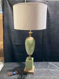 Regal Brass and Ceramic Lamp