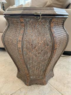Bombay Style Basket Side Table