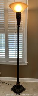 Elegant Bronze Touchier Floor Lamp