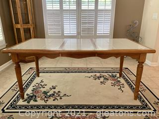 Timeless Oak Tile Top Dining Table
