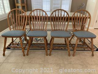 4-Timeless Oak Dining Chairs