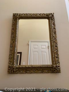 Gold Framed Large Wall Mirror