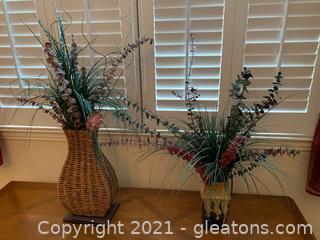 Artificial Plant Arrangements (Lot of 2)