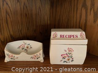 House of Webster Recipe Box & Desk/Mail Organizer