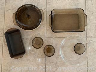 Pyrex and Anchor Baking and Serving Lot