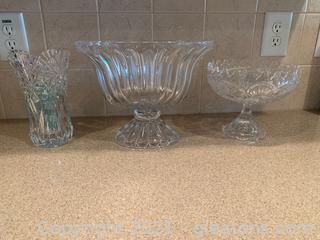 Crystal & Cut Glass Lot (Lot of 3)