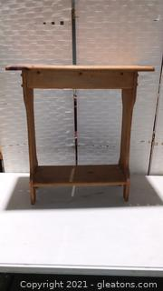 Sturdy Hand Crafted Wooden Side Table