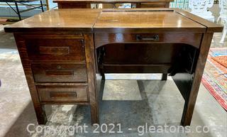 Unique 3 Drawer Wood Hide Away Tray Desk