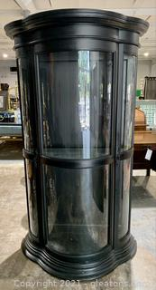 Charming Black Lighted Curio Cabinet