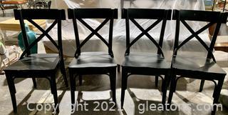 4 Farmhouse Charm Crossback Chairs