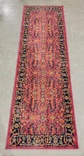 Inviting Pink/Blue Patterned Runner