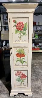 Charming 5 Shelf Floral Pantry/Bathroom Storage Cabinet