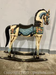 Old World Large Rocking Horse