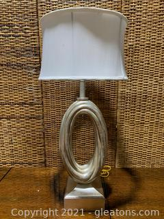 Silver Rope Design Table Lamp