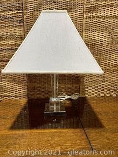 Clear Stem Table Lamp