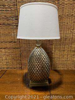 Silver Mermaid/Fish Scale Design Table Lamp