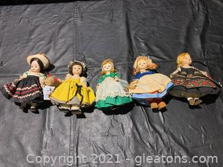 Madame Alexander Dolls (Lot of 5)