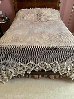 Lovely Loose Knit Bed Covering with Tassels