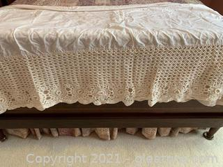 Sweet Crocheted Bed Skirt