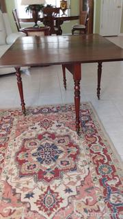 Simple Antique Mahogany Drop Leaf Table