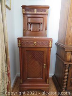 Impressive Marble Top, Antique Shaving Cabinet (B)