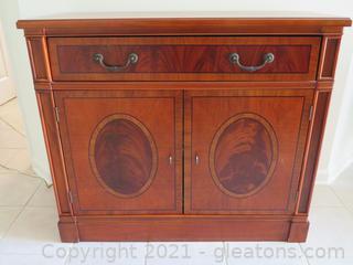 Banded Burlwood Hall Cabinet