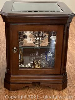 Mahogany Display Cabinet W/Glass Shelf