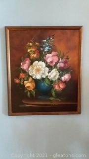 Original G.De Simone Stilllife Oil on Canvas –Signed