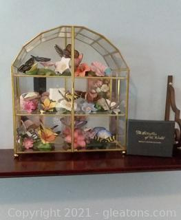Beautiful Butterflies of The World by Franklin Mint- Set with Original Display Case (Missing only 1 butterfly)