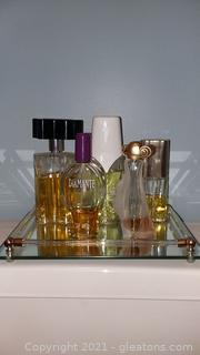 Mirrored Perfume Tray (Contents Included)