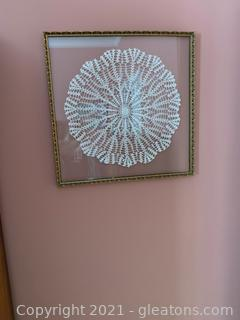 Beautiful Framed Doily