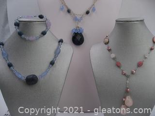 3 Beaded Fashion Necklaces