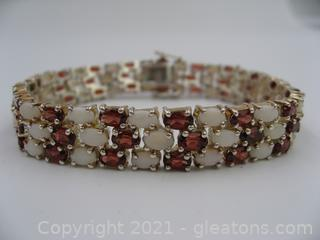 Opal and Garnet Bracelet