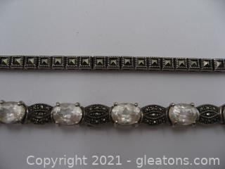 2 Beautiful Marcasite Bracelets