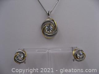 Costume Jewelry Necklace and Earring Set