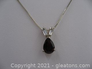 Beautiful Garnet and CZ Necklace