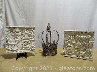 Lot of 3 Charming Decor Pieces