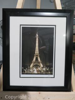 Jesse Kalisher Gallery Framed Signed Eiffel Tower #1974