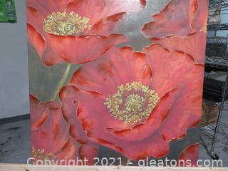 Stunning World Market Canvas- Red Poppy